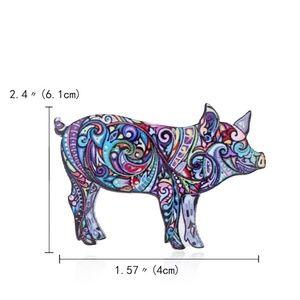 Vibrant Pet Pig Pin Brooch - Brand New